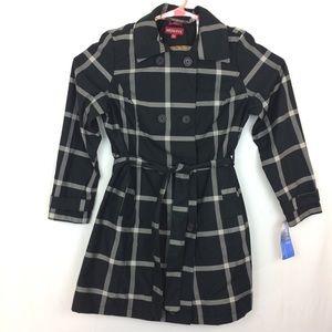Women's Jacket Merona belted trench Peacoat XXL